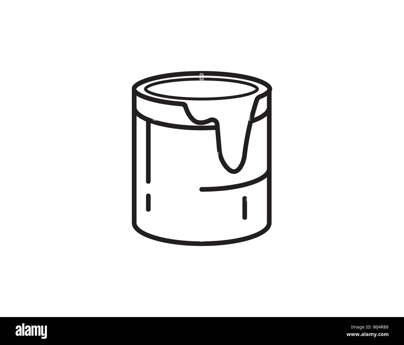 Paint Bucket Vector Icon Color Symbol Modern Simple Flat Vector Illustration For Web Site Or Mobile App Stock Vector Image Art Alamy