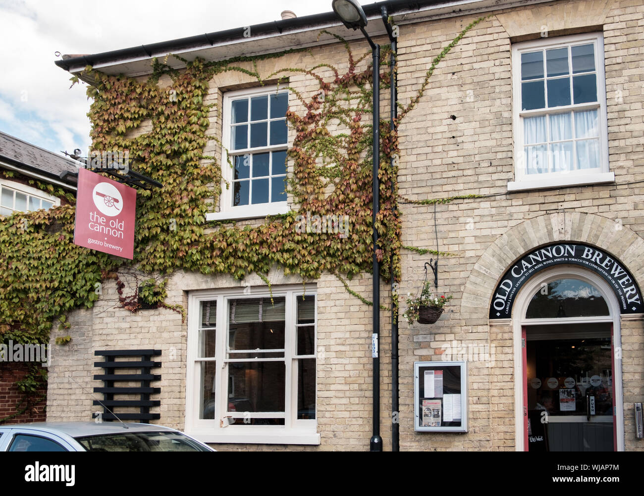 Gastro pub The Old Cannon Brewery in Bury St Edmunds, Suffolk, UK Stock Photo