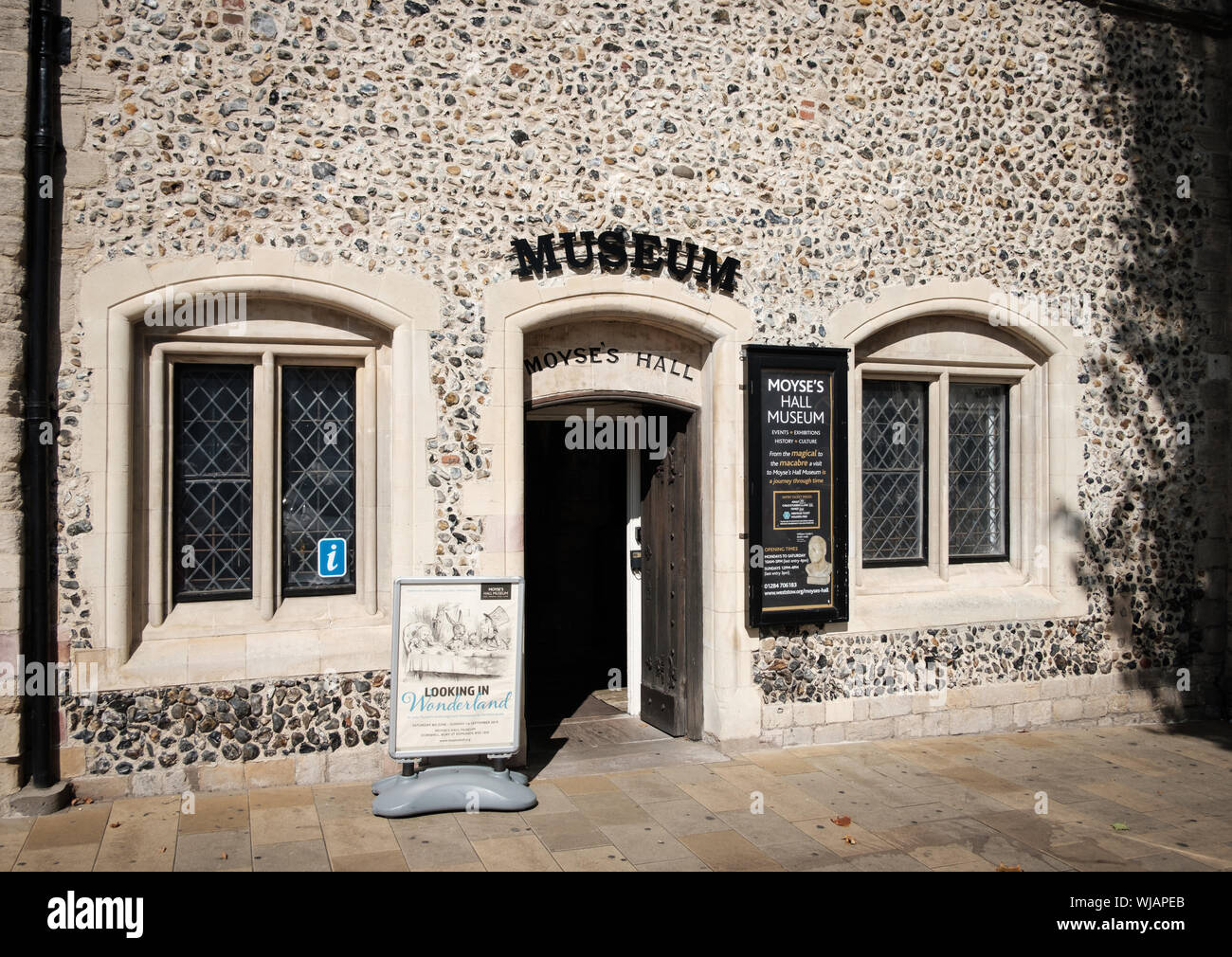 Moyse's Hall Museum housed in a medieval building in the Marketplace, Bury St Edmunds, Suffolk Stock Photo