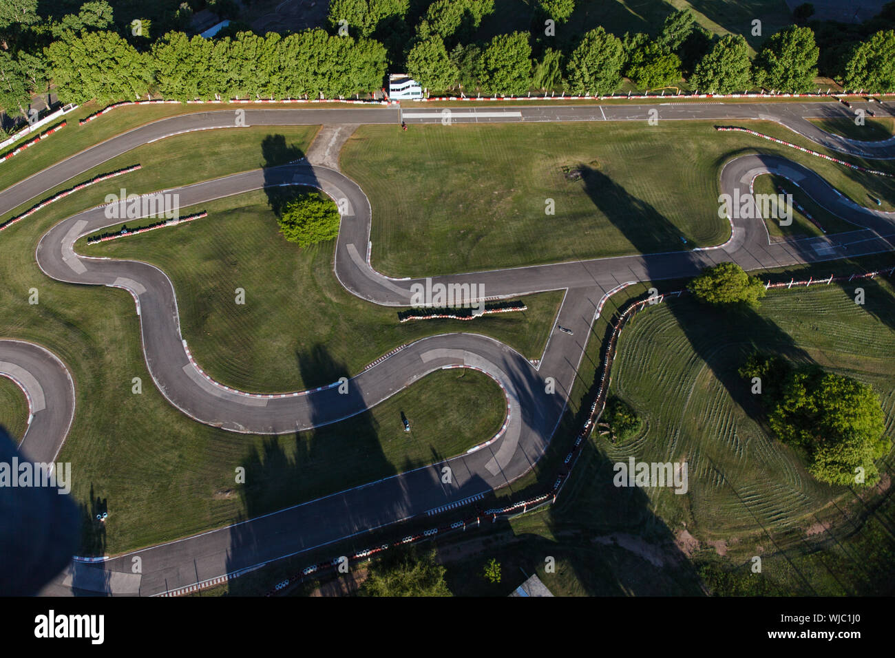 Aerial View Of Motor Racing Track Stock Photo