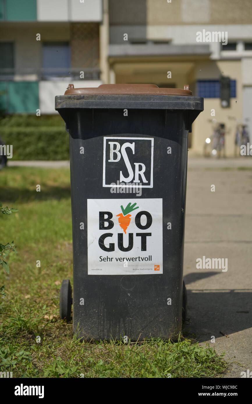 Rubbish, waste disposal, refuse bin, Berlin, Berlin town cleaning, biology, bioproperty, biologically, biological, more biologically, biological, bio- Stock Photo