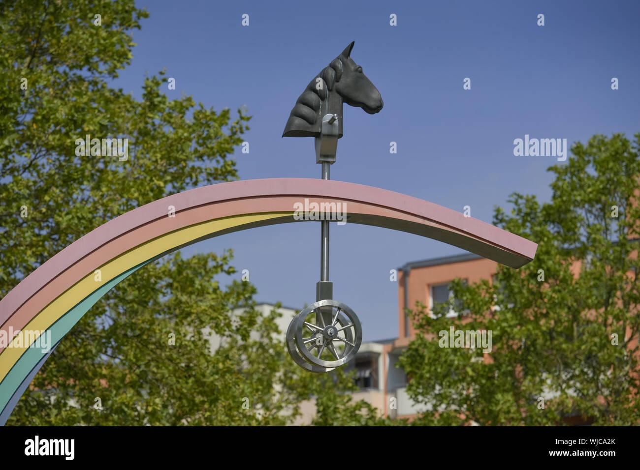 Ahrensfelde, Berlin, Germany, Havemannstrasse, Havemannstrasse, cent village, Hellersdorfer, art, piece of art, Marzahn, Marzahner, Marzahn-cent villa Stock Photo