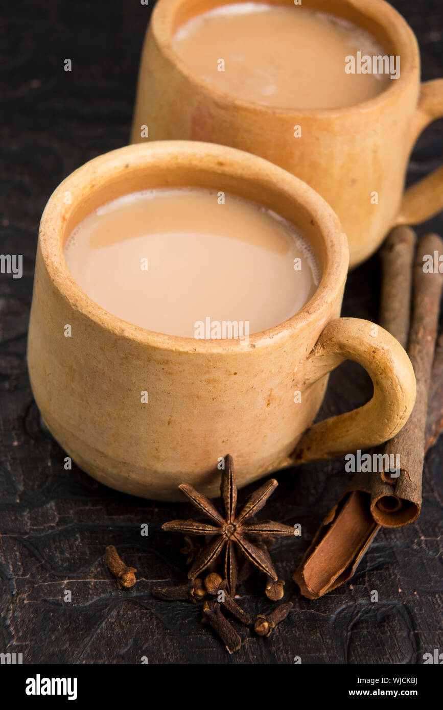 Masala chai Stock Photo