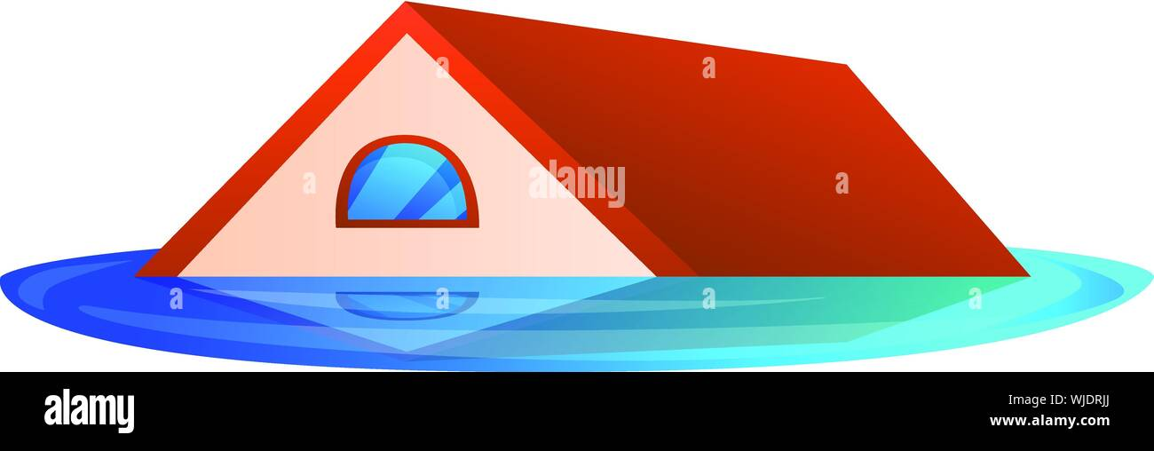 House Roof Flood Icon Cartoon Of House Roof Flood Vector Icon For Web Design Isolated On White Background Stock Vector Image Art Alamy