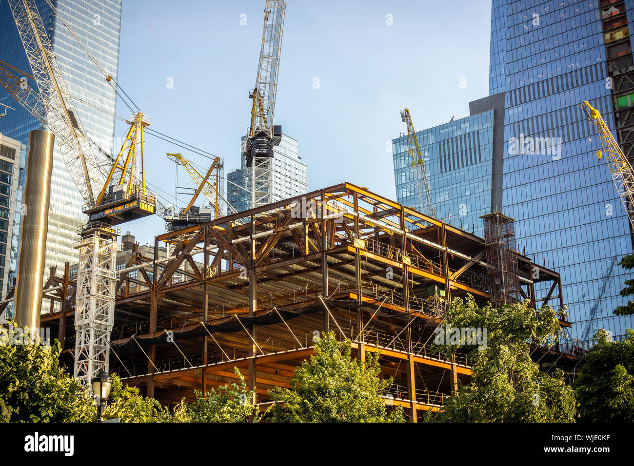 Development in and around Hudson Yards in New York on Saturday, August 30, 2019. (© Richard B. Levine) Stock Photo