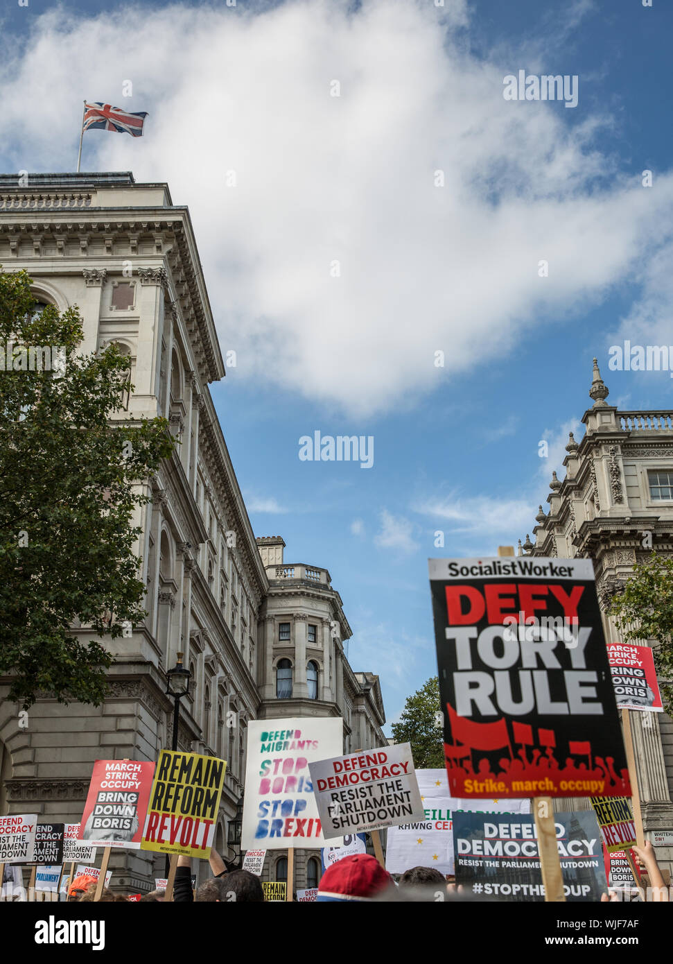 Pro Democracy rally, London 31st Aug 2019 - Stock Photo