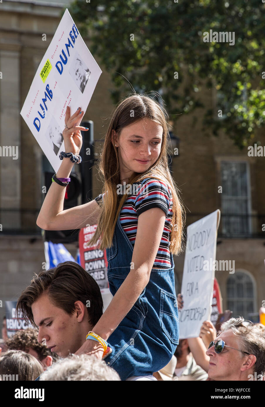 Pro Democracy rally, London 31st Aug 2019 Stock Photo