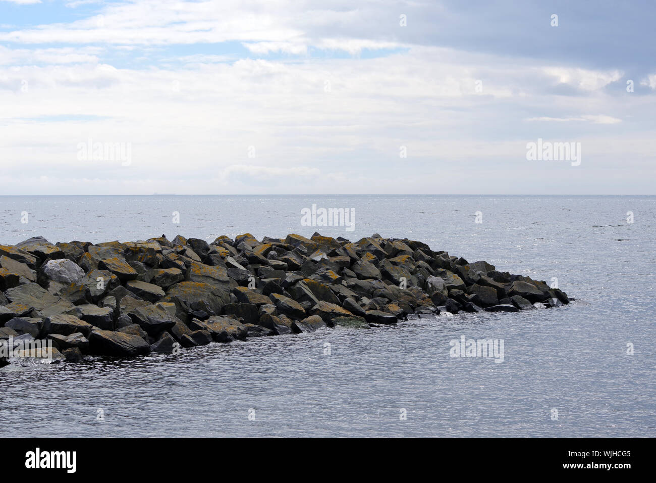Flood protection barrier in Saltcoats Harbour, North Ayrshire, Scotland Stock Photo