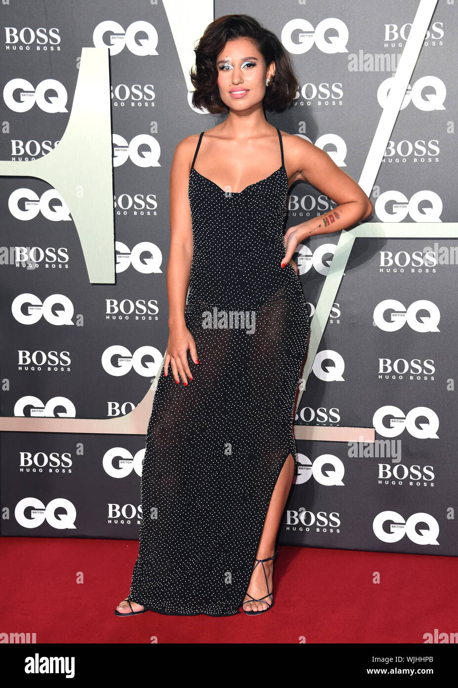 Raye arriving at the GQ Men of the Year Awards 2019 in association with Hugo Boss, held at the Tate Modern in London. - Stock Photo