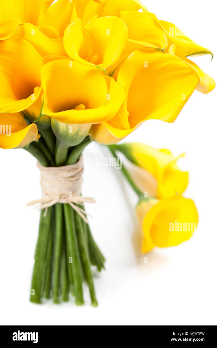 Beautiful Calla Lilly Bouquet Wedding Or Romantic Date Concept Stock Photo Alamy
