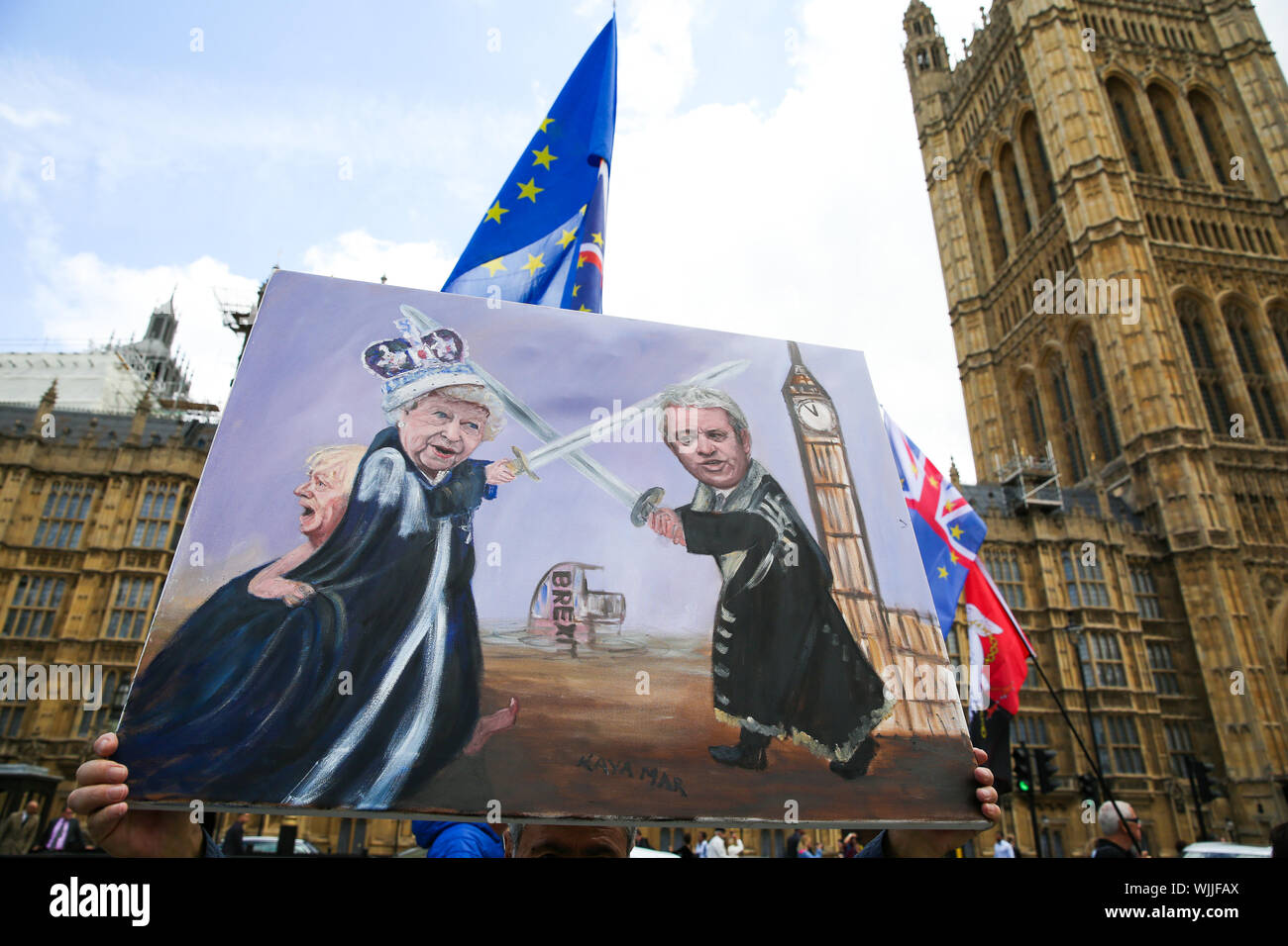 A Piece Of Satirical Artwork By Artist Kaya Mar Showing The Queen