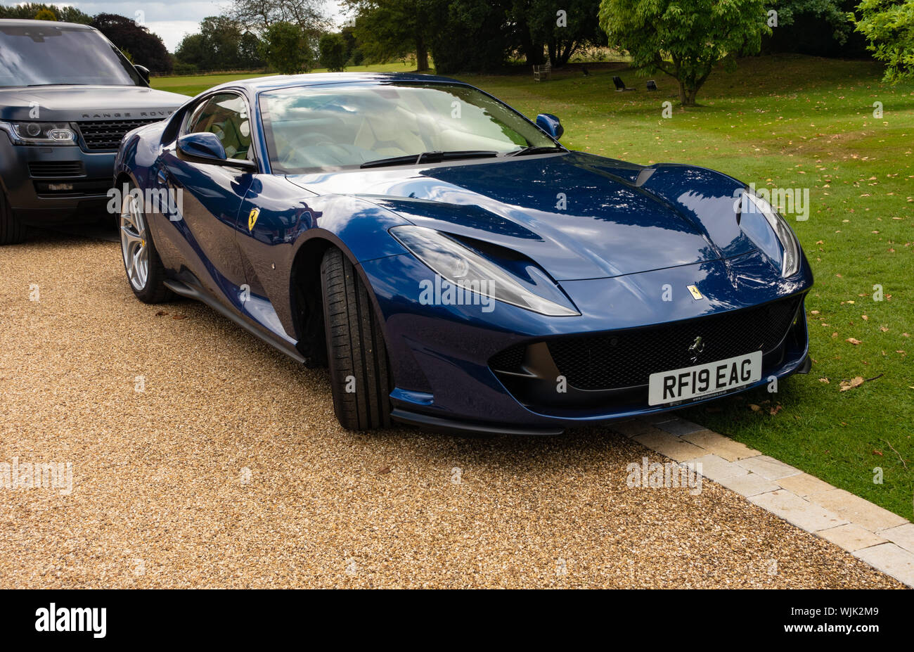 Blue Ferrari High Resolution Stock Photography And Images Alamy