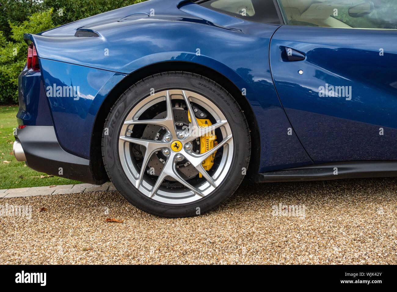 Closeup Of A 2019 Blue Ferrari 812 Superfast S A Sports Wheel Stock Photo Alamy