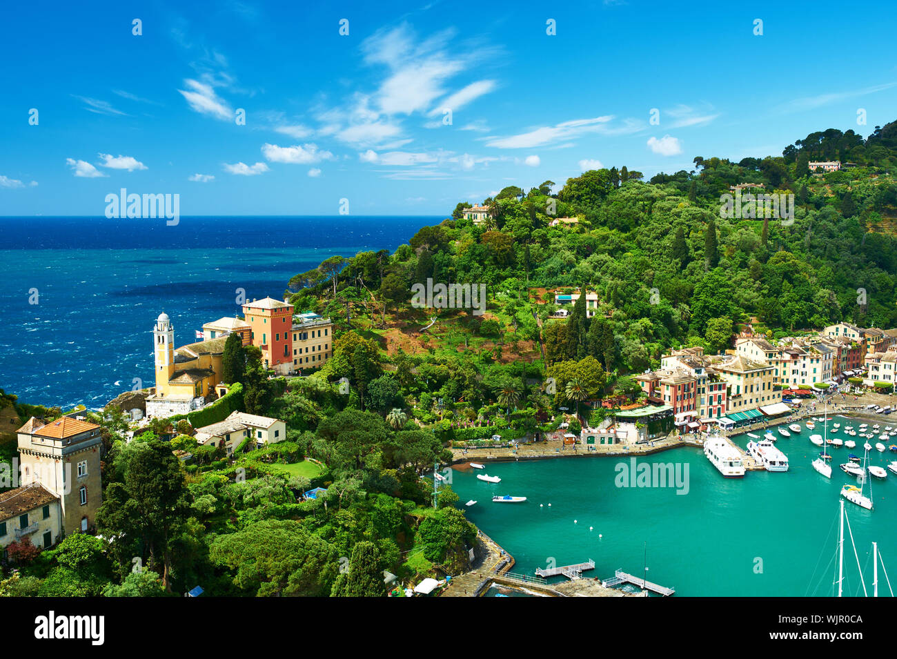 Portofino village on Ligurian coast in Italy Stock Photo