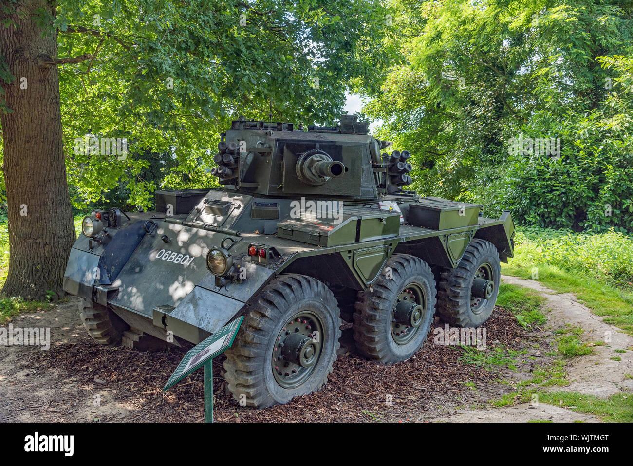 Saladin armoured car - KSY military museum, Hever Castle