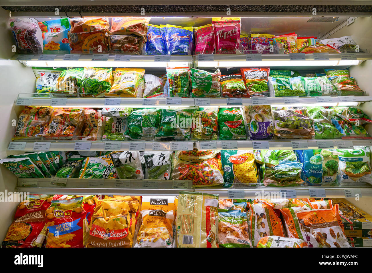 HONG KONG, CHINA - CIRCA FEBRUARY, 2019: food on display at