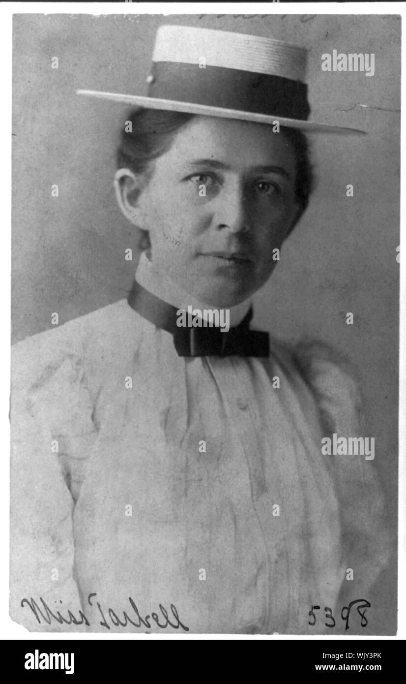 Ida Minerva Tarbell, 1857-1944 Stock Photo