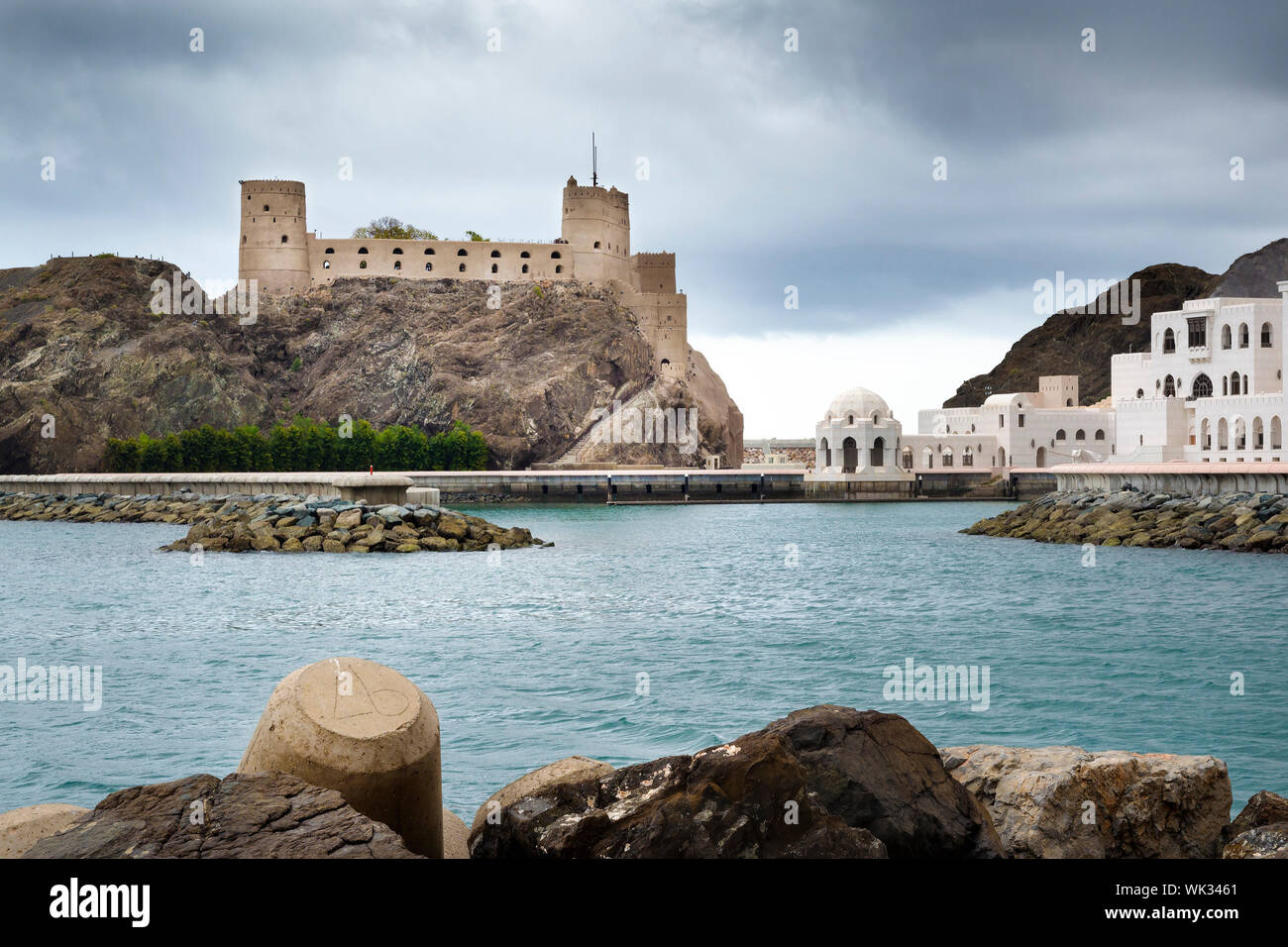 Picture of fort Jalali in Muscat, Oman Stock Photo