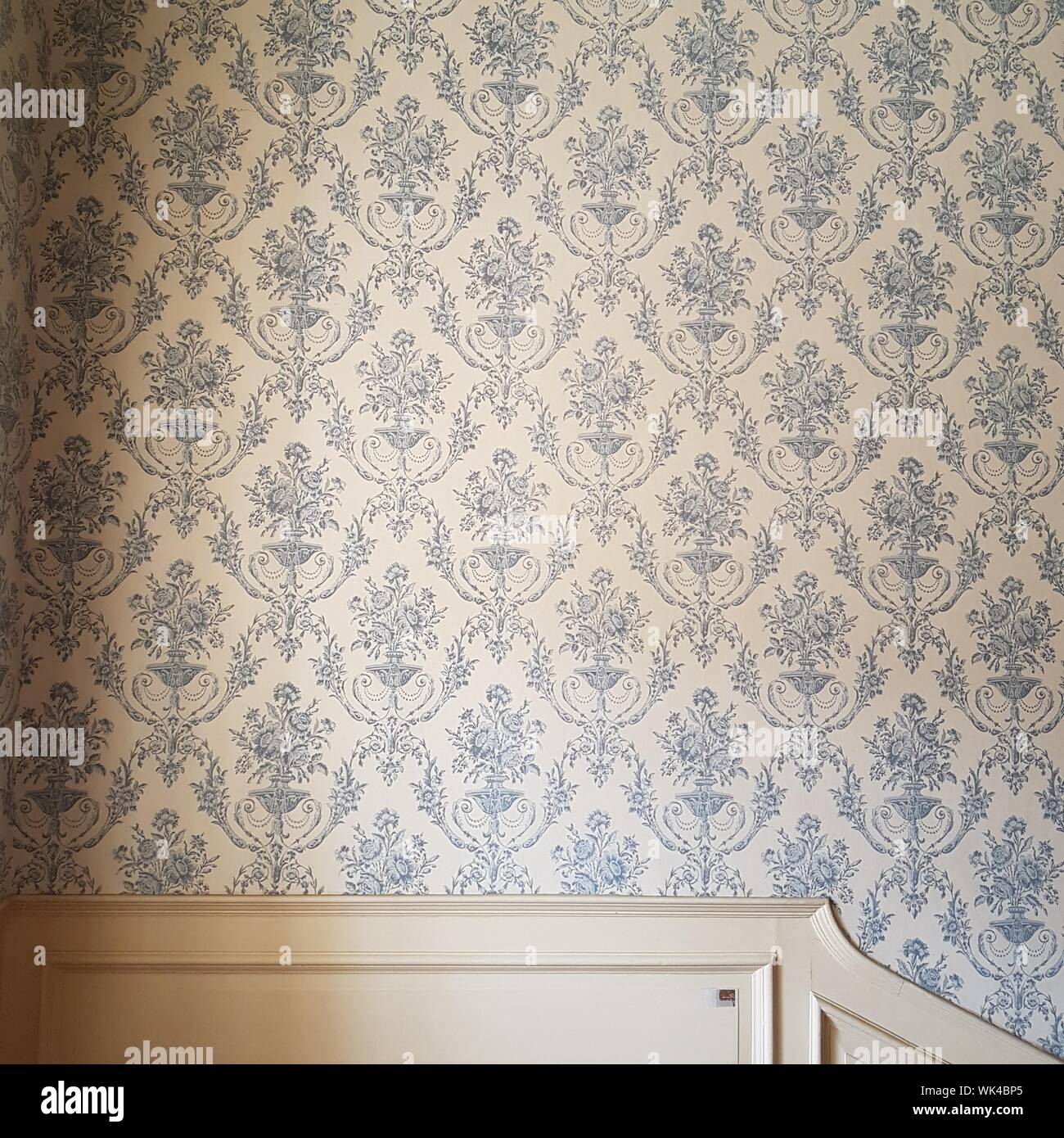 Patterned Wallpaper Home Stock Photos Patterned Wallpaper