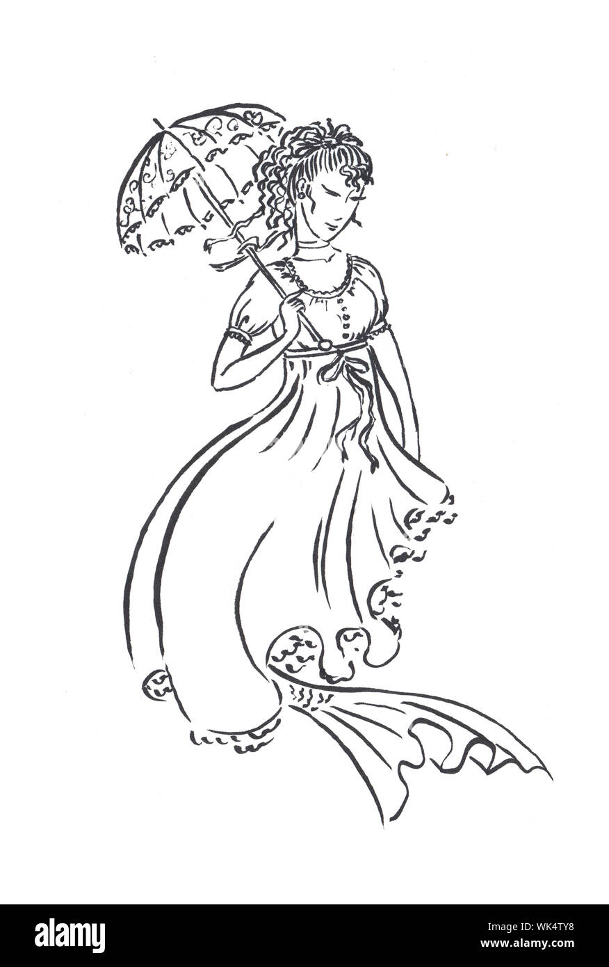 Advanced regency fashion coloring pages | 1390x876