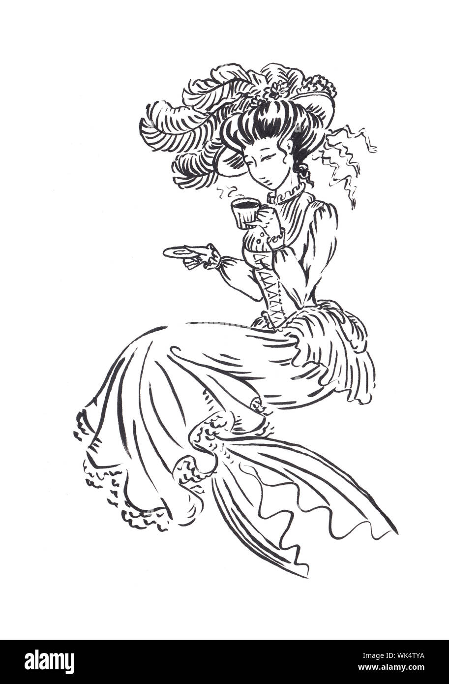 223 Best Regency, Victorian, Georgian Coloring Pages images in ... | 1390x913