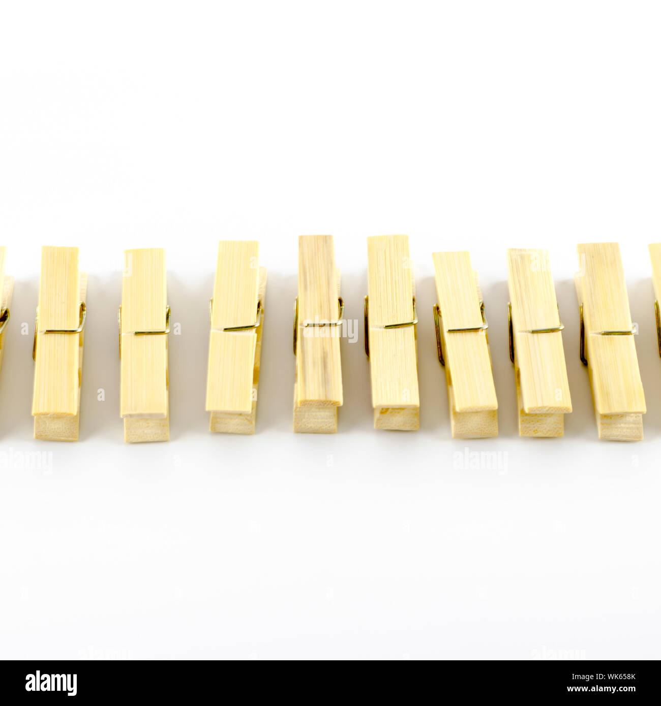 clothes pin on a white background Stock Photo