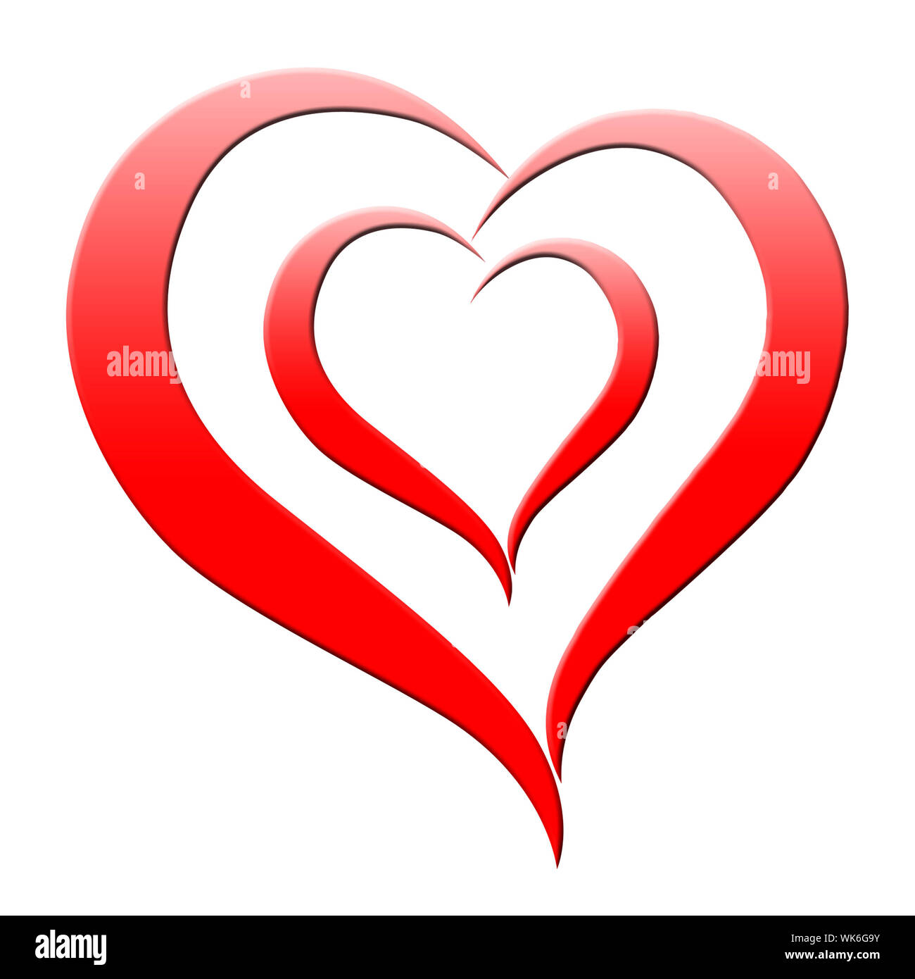 Red Heart Meaning Romanticism Passion And Amour Stock Photo Alamy