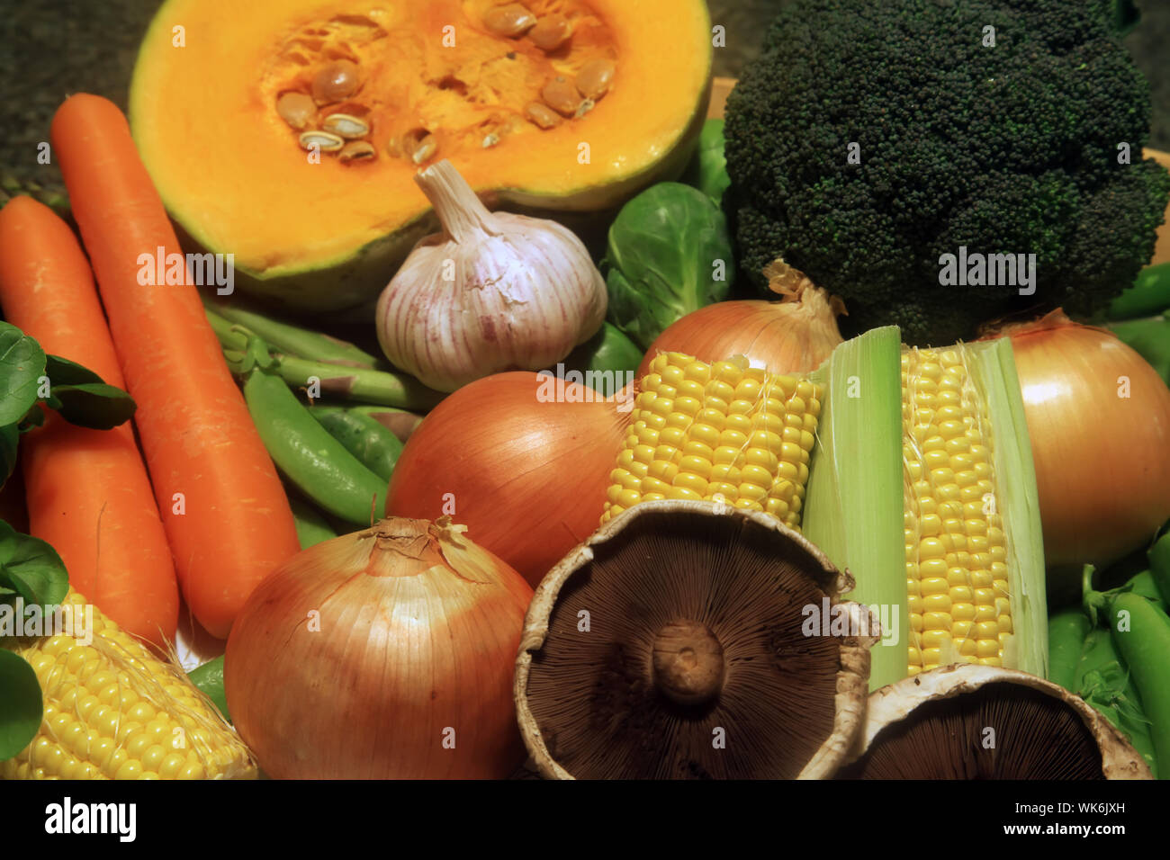Common Vegetables Frequently Used for Cooking Stock Photo
