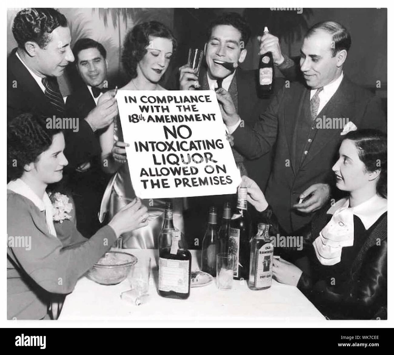 Prohibition times in America in the 30s Stock Photo