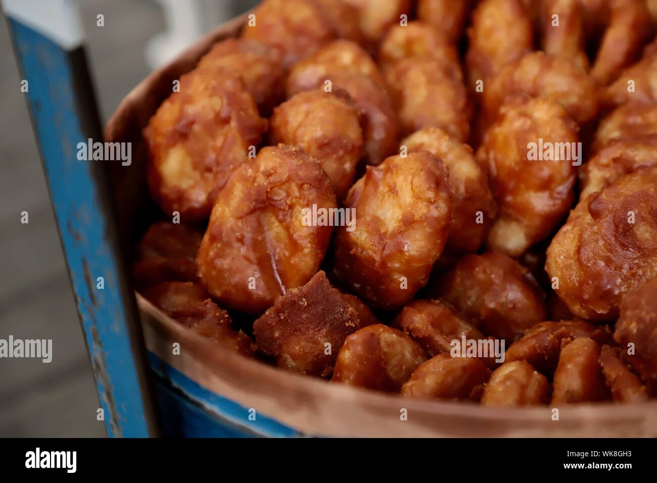 Gemblong. Fried glutinous rice buns from West Java. Stock Photo