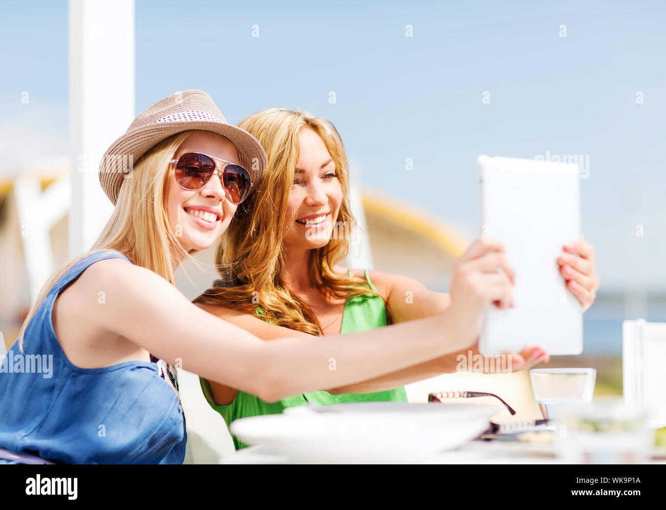Summer Holidays Vacation And Technology Girls Taking