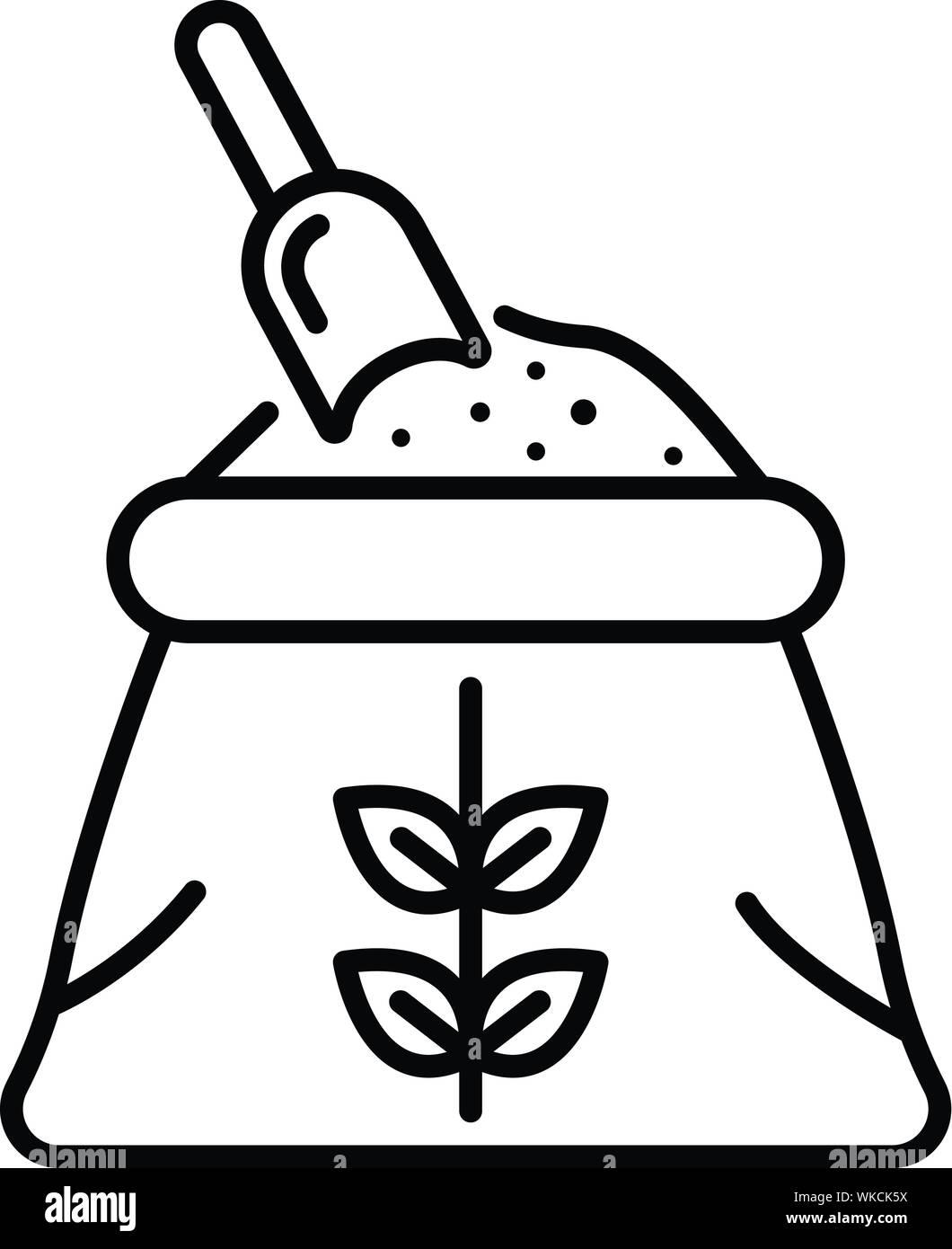 flour sack icon outline style stock vector image art alamy https www alamy com flour sack icon outline style image270112470 html