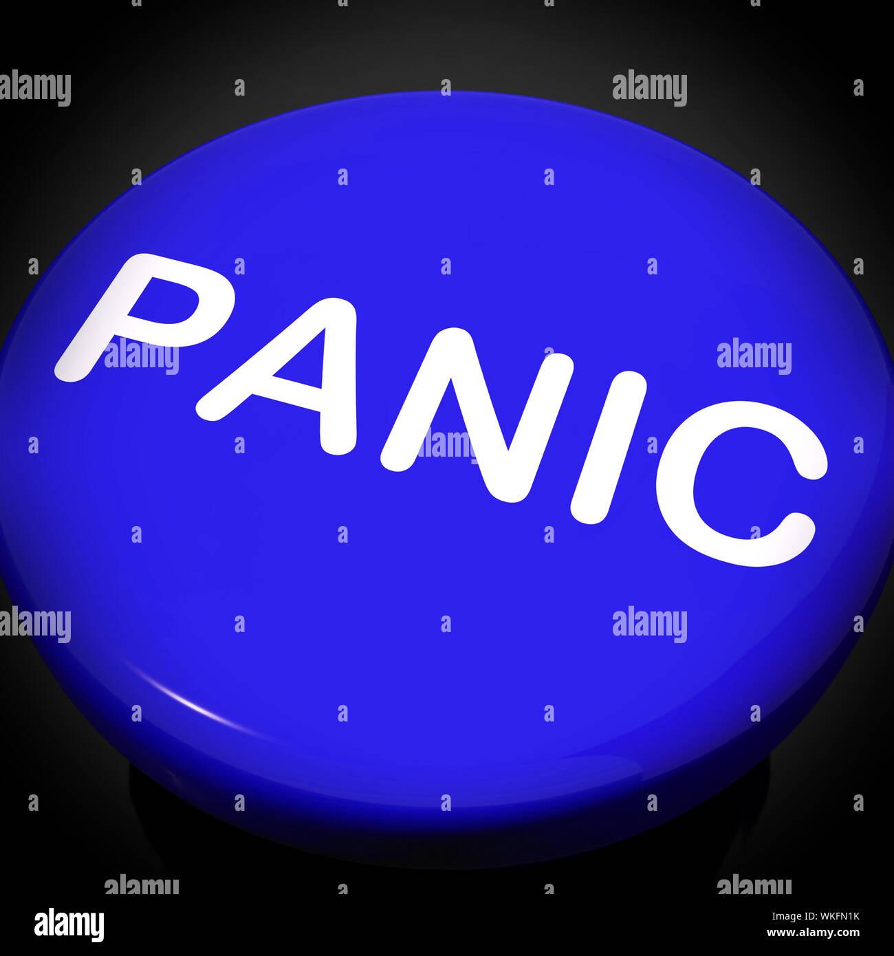 Panic Switch Showing Anxiety Panicking Distress Stock Photo