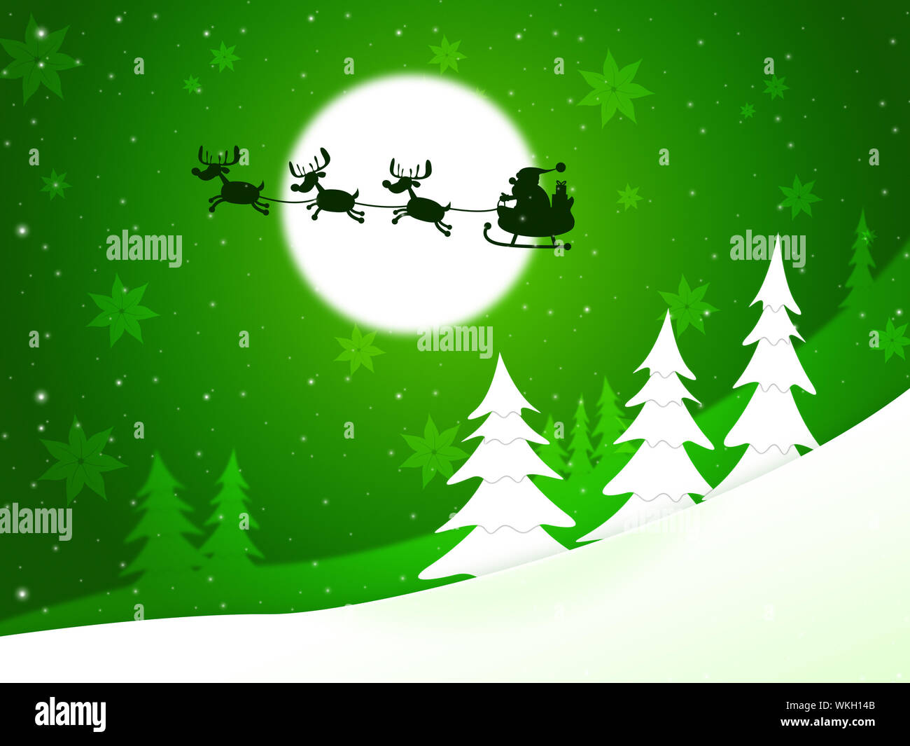 Christmas Tree Meaning.Xmas Tree Meaning Father Christmas And X Mas Stock Photo