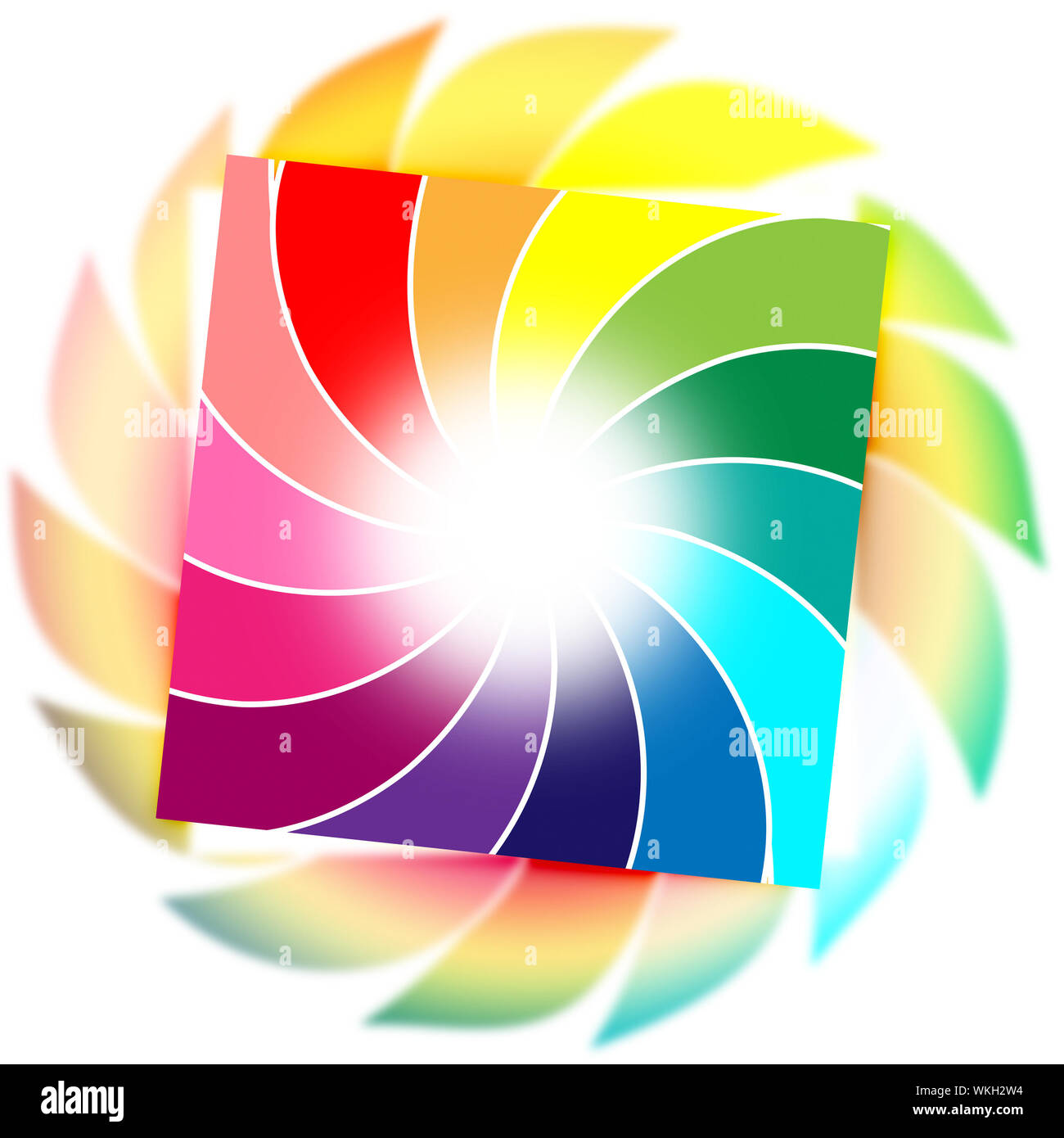 Color Spiral Meaning Vortex Background And Whirl Stock Photo