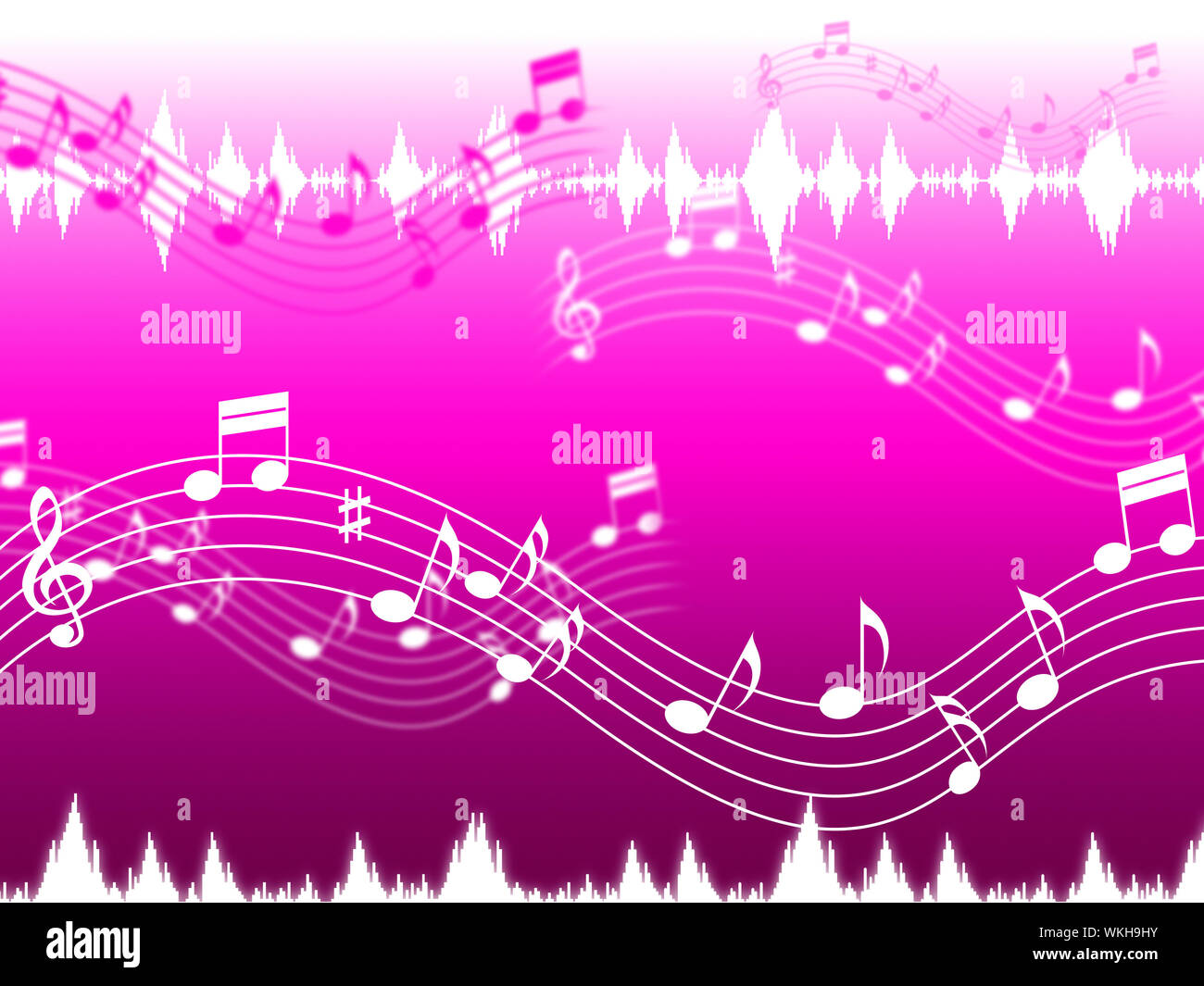 Pink Music Background Showing Rap Rock Or RandB Stock Photo