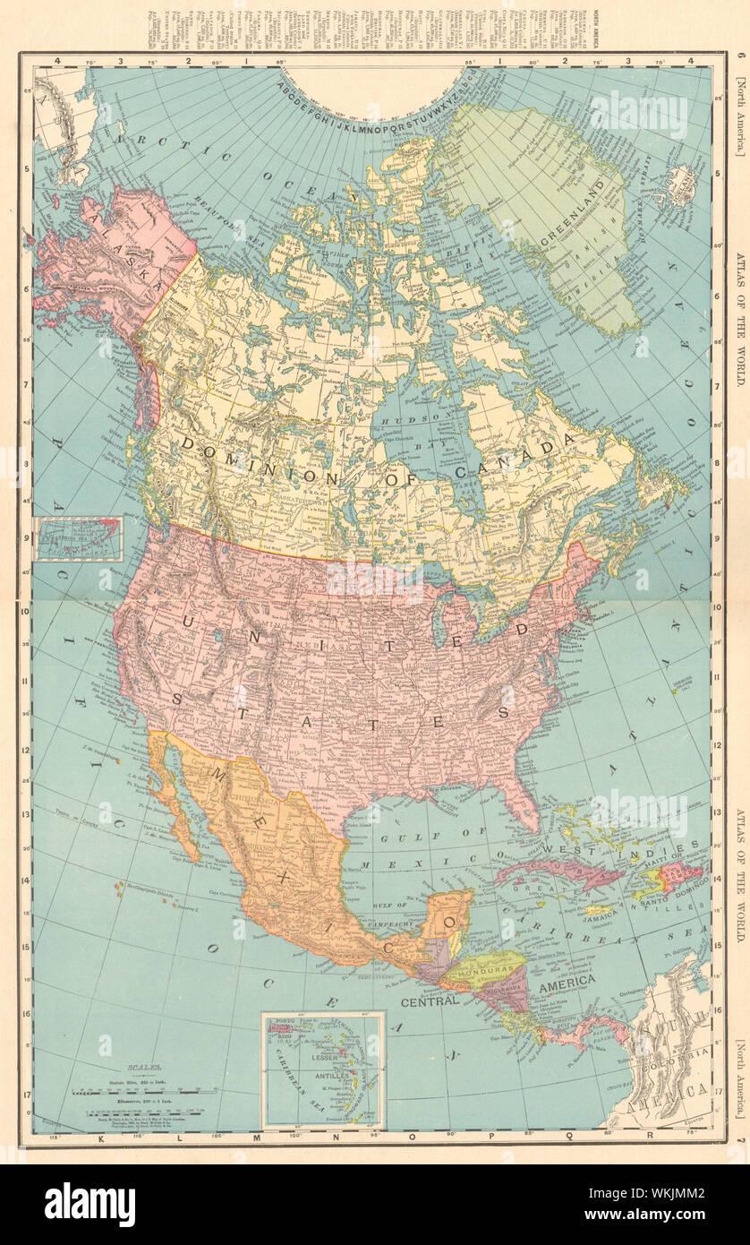 Rand Mcnally Map Of Canada North America. Dominion of Canada. United States. RAND MCNALLY