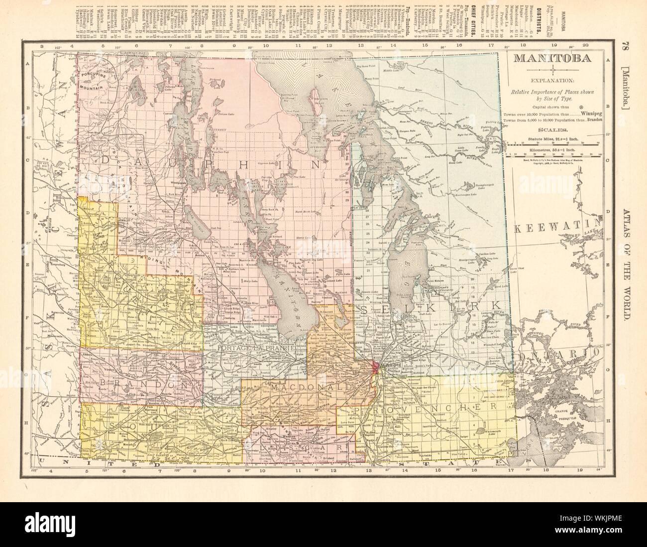 MANITOBA Inset Winnipeg city plan HARMSWORTH 1920 old vintage map chart
