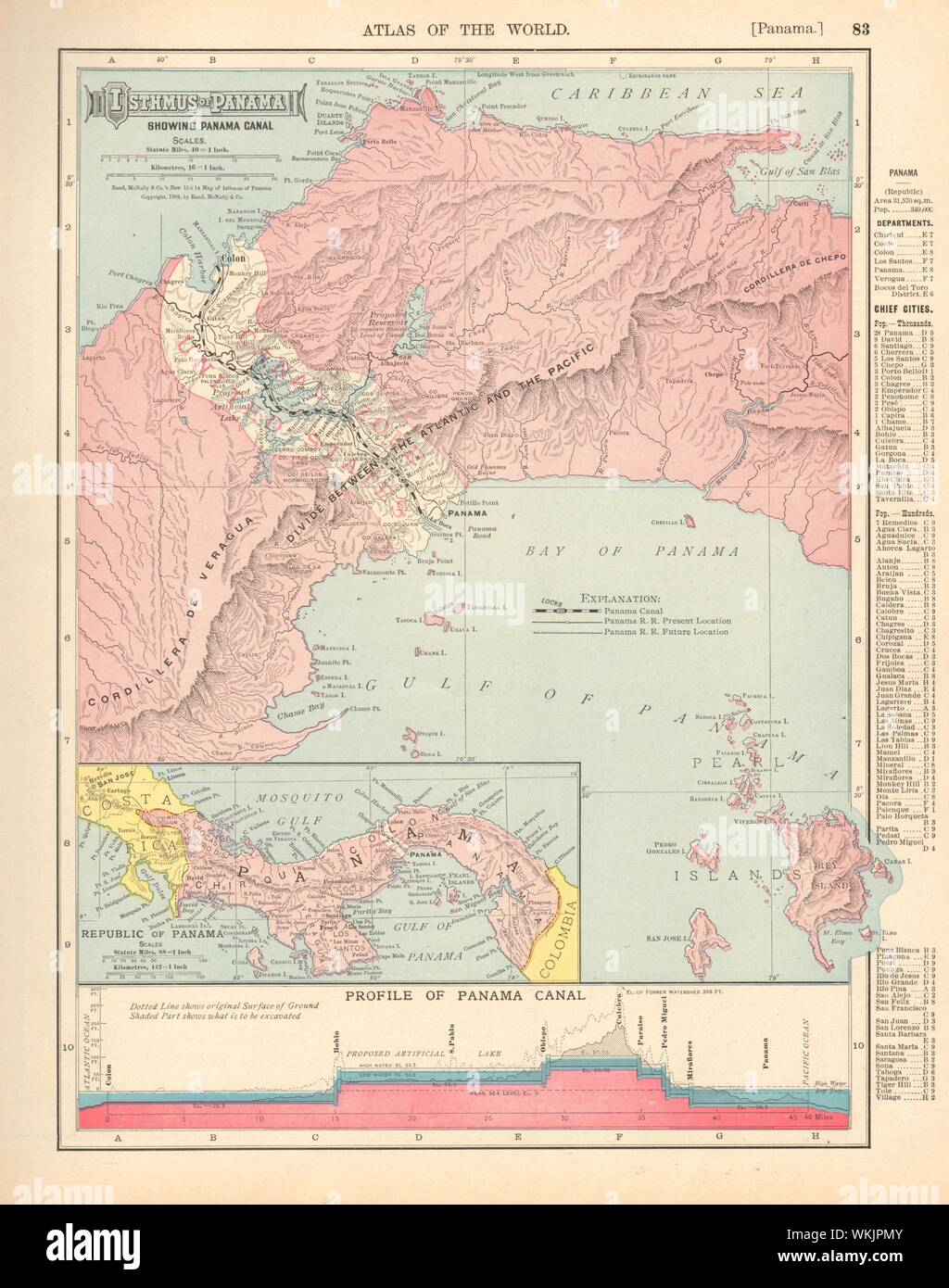 ISTHMUS OF PANAMA. Republic, Canal zone & profile. RAND ...