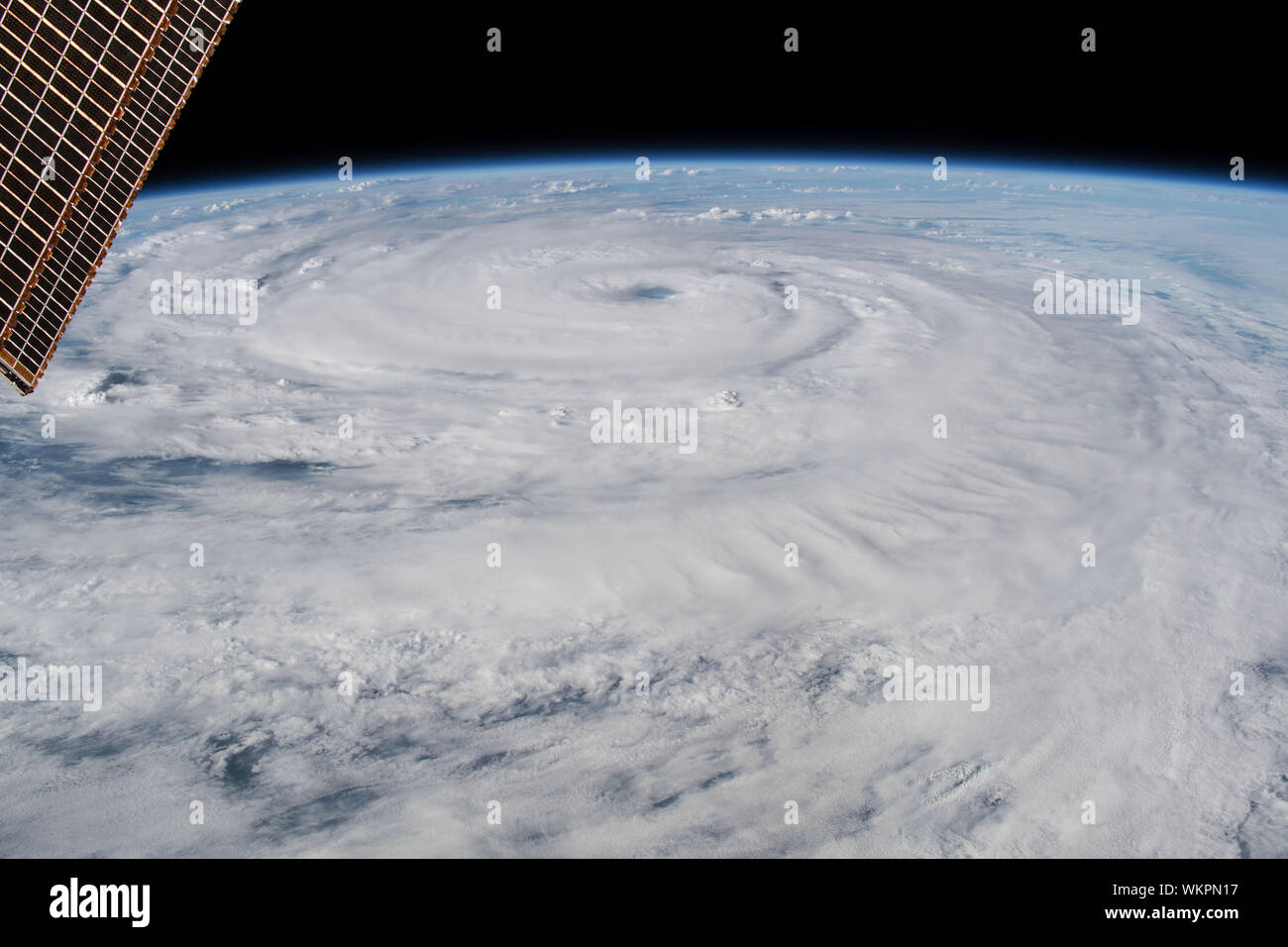 Hurricane Florence, category 4, September 12, 2018, near coast of North & South Carolina, by NASA, ISS/DPA Stock Photo