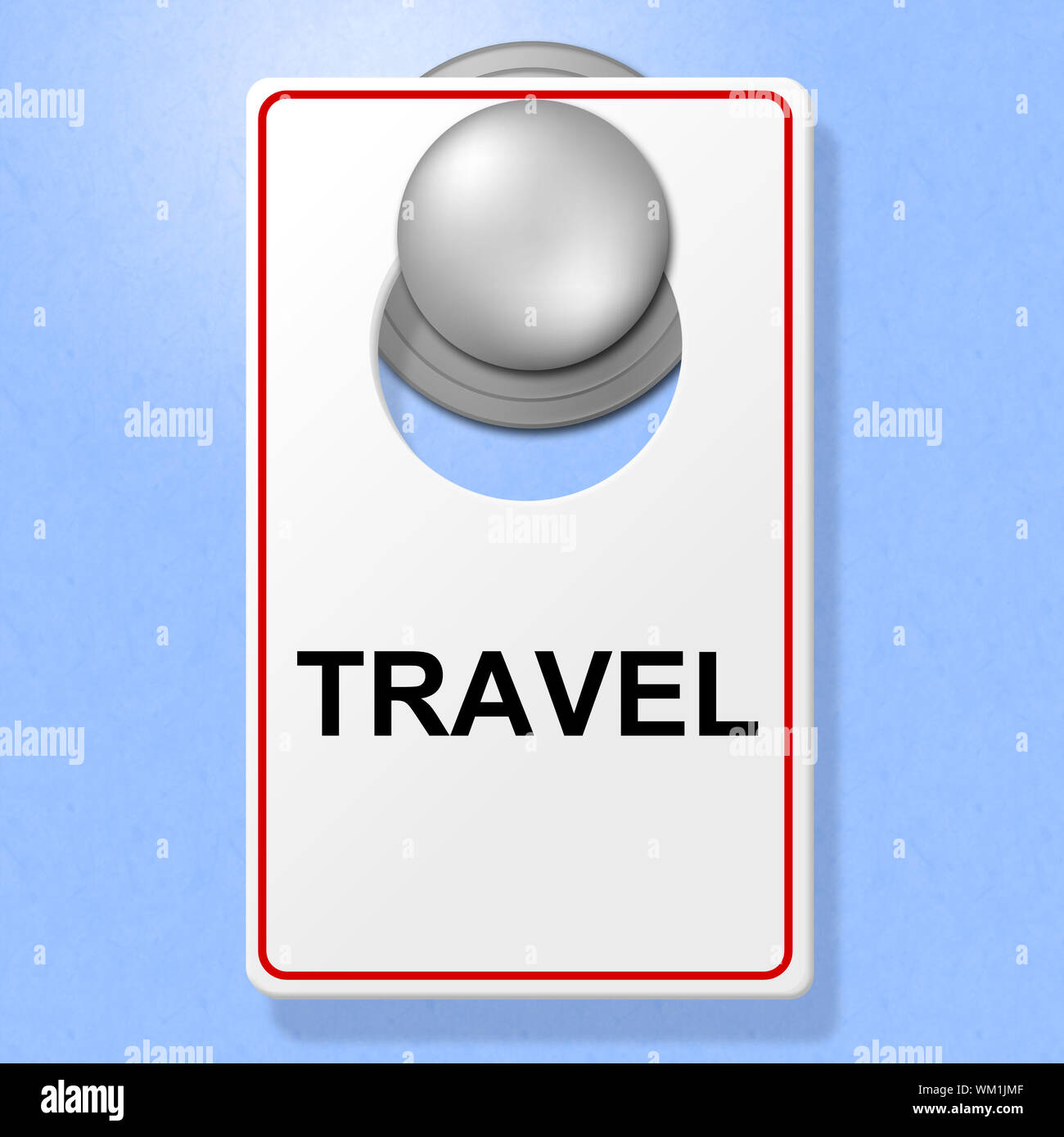 Travel Sign Showing Go On Leave And Time Off Stock Photo