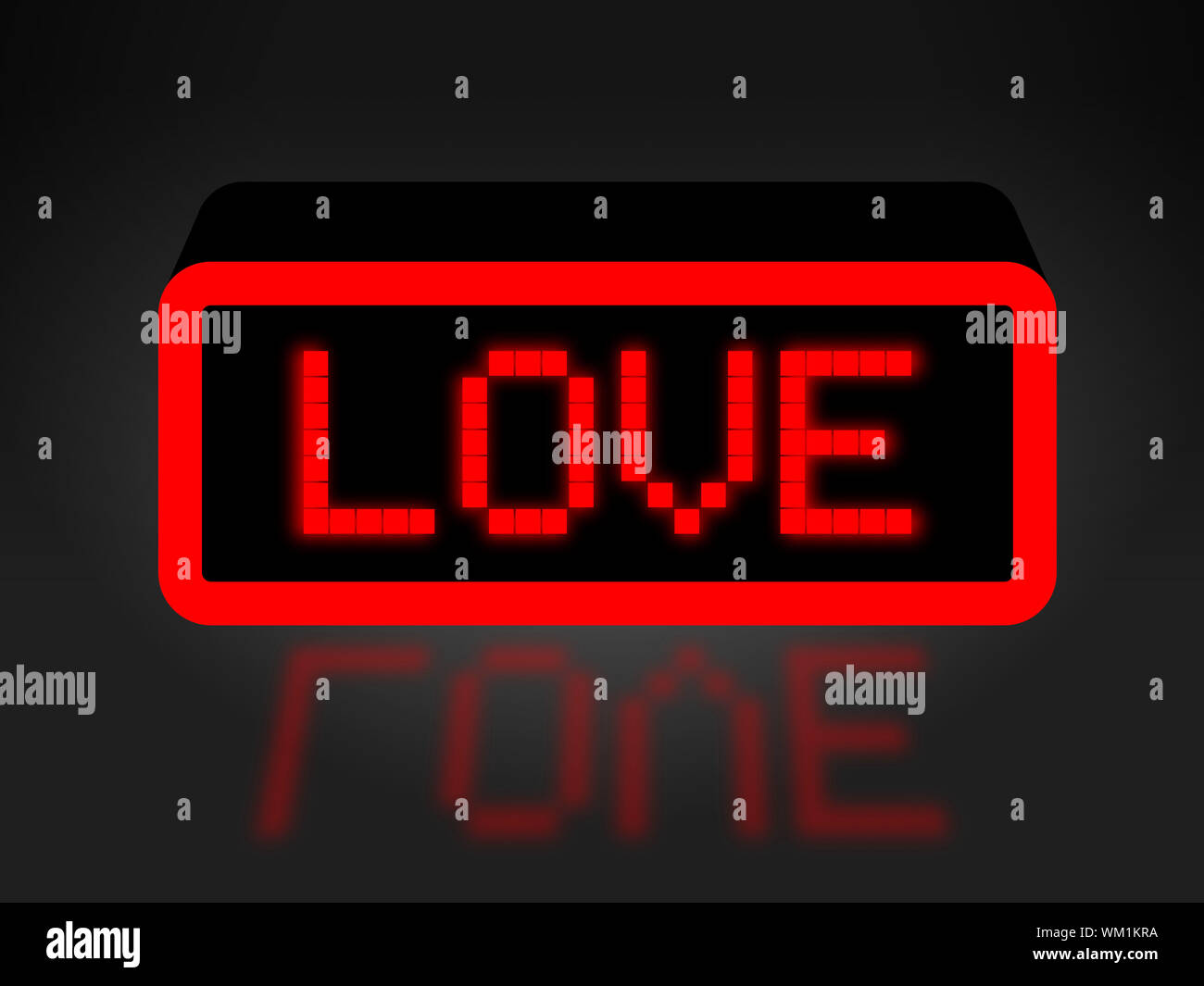 Love Neon Sign Indicating Boyfriend Display And Fondness Stock Photo