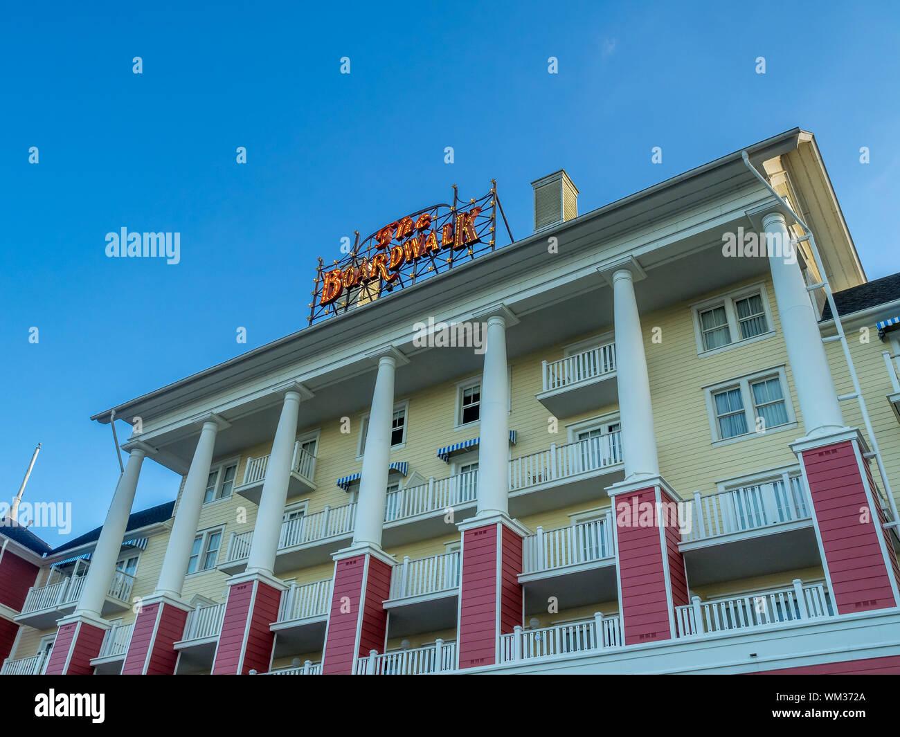 Hotels at the Disney World resort close to Orlando, Florida. Stock Photo