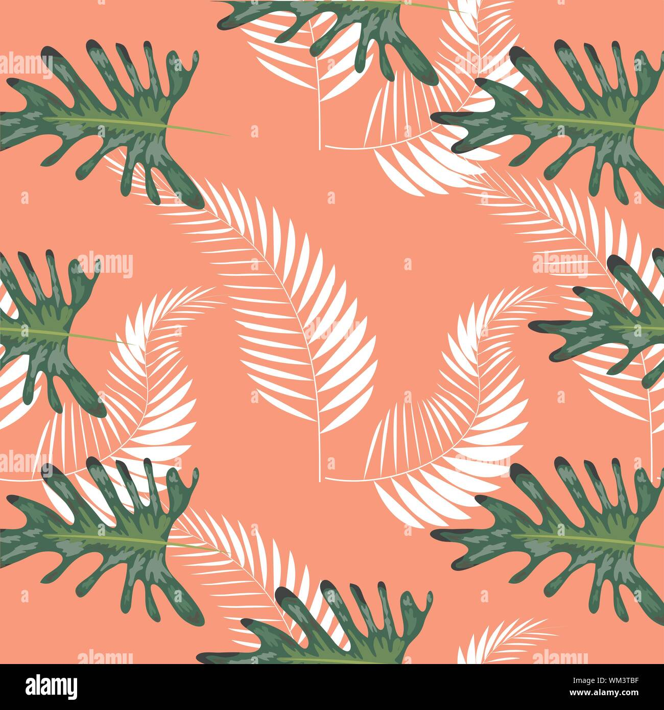 Tropical Leaves Palms Monstera Leaf Floral Seamless Pattern Background Stock Vector Image Art Alamy Learn how to paint monstera plant in this free step by step acrylic painting tutorial by angela anderson. alamy