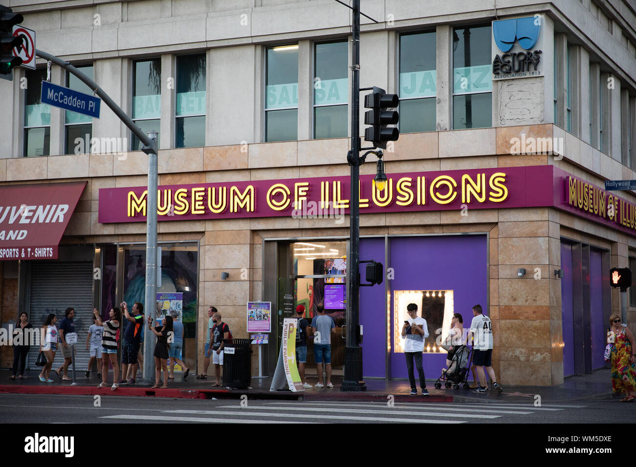08/14/2019 - Los Angeles, CA: Museum of Illusions on Hollywood blvd in Los Angeles, USA Stock Photo