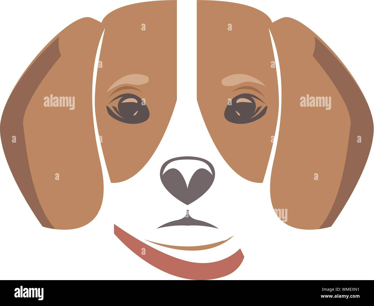 Dog Head Icon Flat Style Cartoon Dog Face Vector Illustration Isolated On White Silhouette Simple Animal Logotype Concept Logo Design Template Stock Vector Image Art Alamy