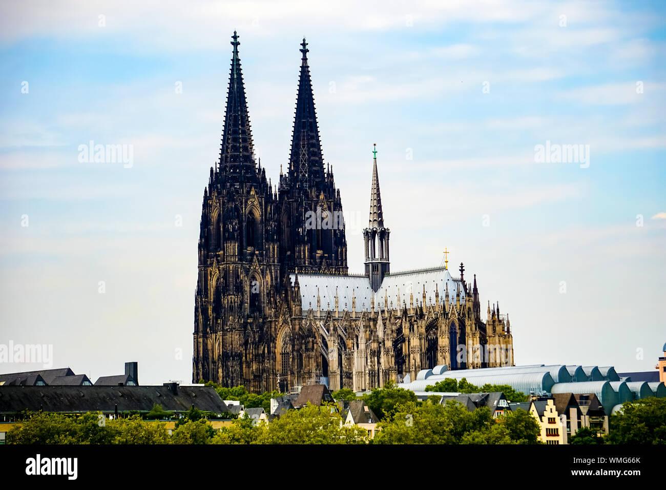 High dynamic range HDR Koelner Dom Cologne Cathedral Stock Photo