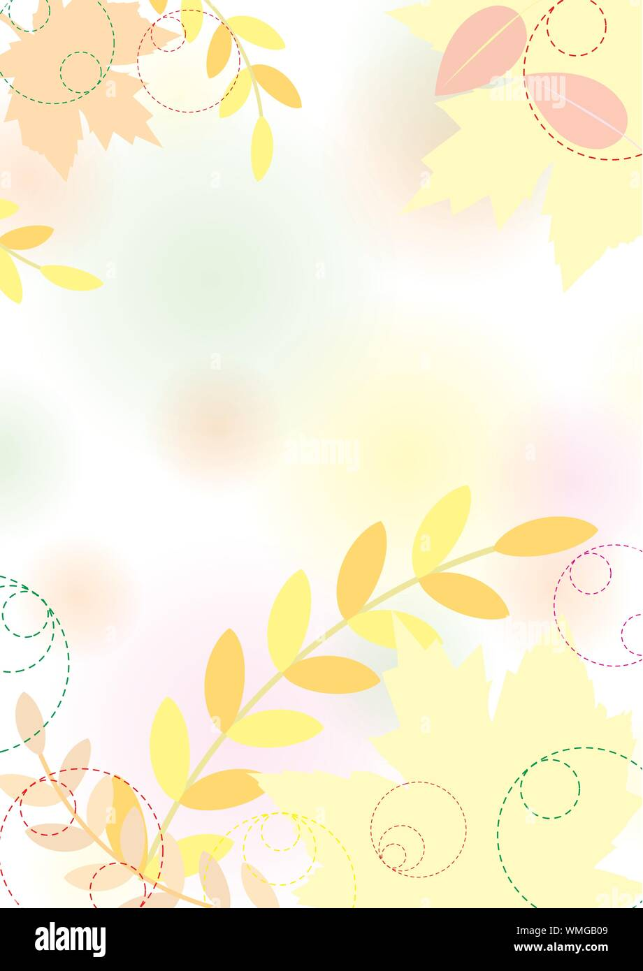 Pastel Autumn Background With Maple Leaves Pastel Colors Vector Illustration Eps 10 0 Stock Vector Image Art Alamy