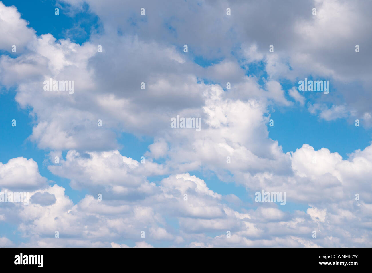 The Blue Sky With Moving White Clouds The Sky Is A Beautiful Color Shade Suitable For Use As A Background Image Stock Photo Alamy