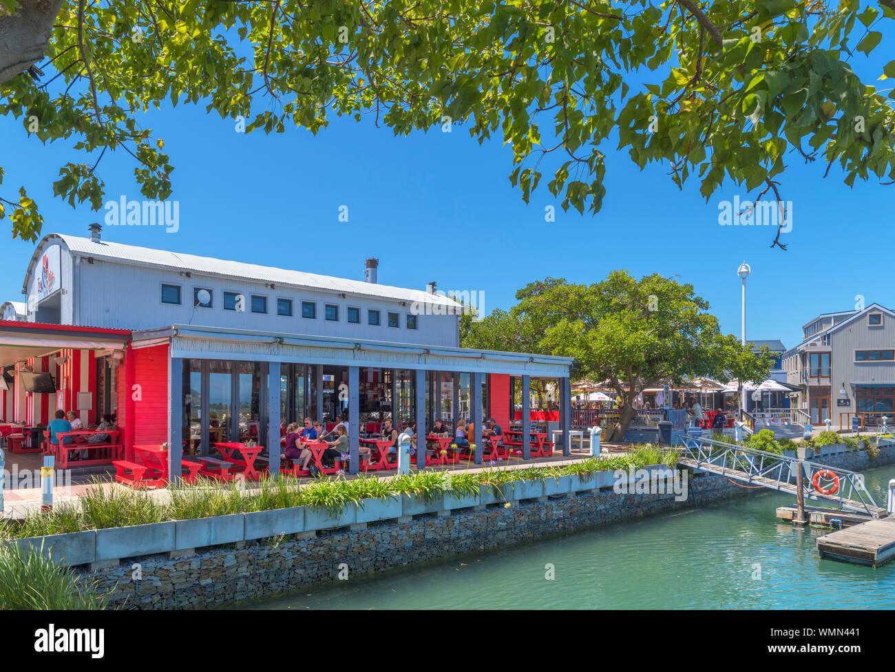 Waterfront restaurant on Thesen Island, Knysna, Garden Route, Western Cape, South Africa Stock Photo
